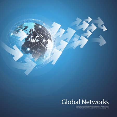 Réseaux mondiaux - EPS10 vecteur pour votre entreprise Vecteurs