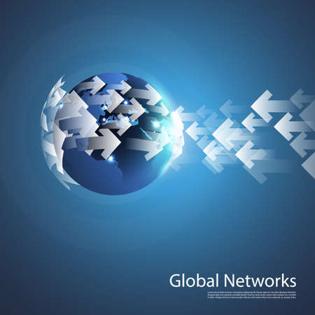 informatics: Global Networks - Information Flow Design Concept - EPS10 Vector for Your Business