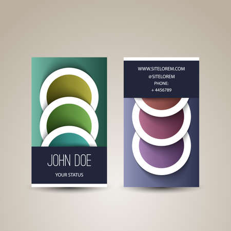 Business Card with Abstract Circles Pattern Vector
