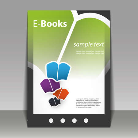 Flyer or Cover Design - E-Books Vector