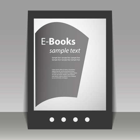 Flyer or Cover Design - E-Books Vector