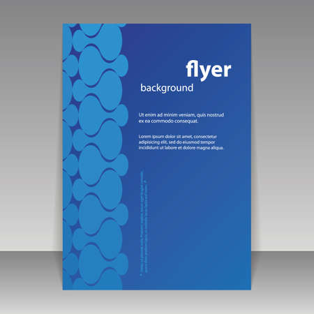Flyer or Cover Design with Abstract Pattern Vector