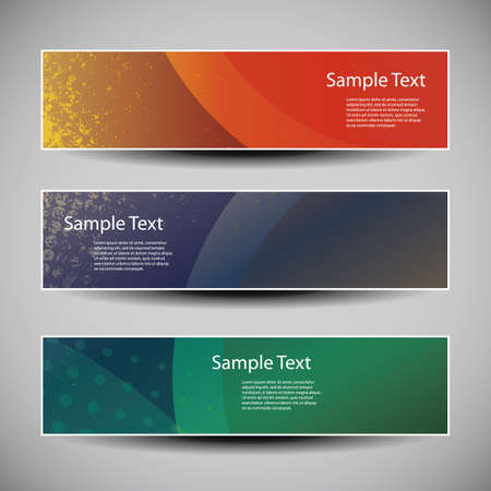 Banner or Header Designs with Abstract Colorful Grungy Pattern Vector