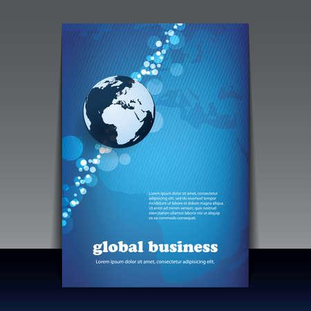 Flyer or Cover Design - Global Business Vector