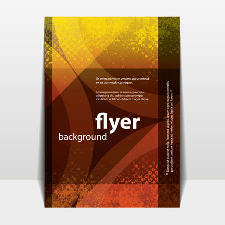 Flyer or Cover Design with Abstract Grungy Pattern Vector
