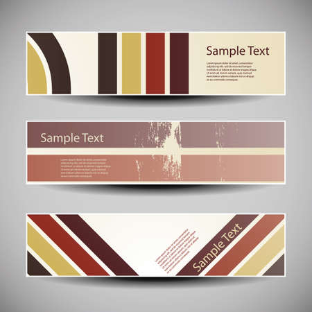 scalable: Colorful Banners with Abstract Designs in Freely Scalable and Editable Vector Format Illustration