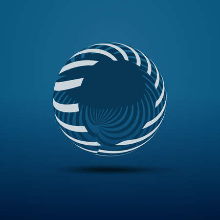 Abstract Blue Transparent Globe Design - Global Networks or Technology Illustration Template in Editable Vector Format Ilustração