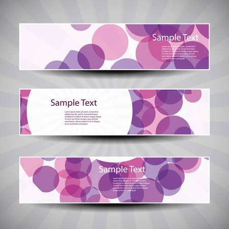 bubbly: Banner or Header Design with Abstract Bubbly Pattern Illustration
