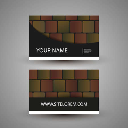 gift pattern: Business or Gift Card Design with Colorful Abstract Pattern