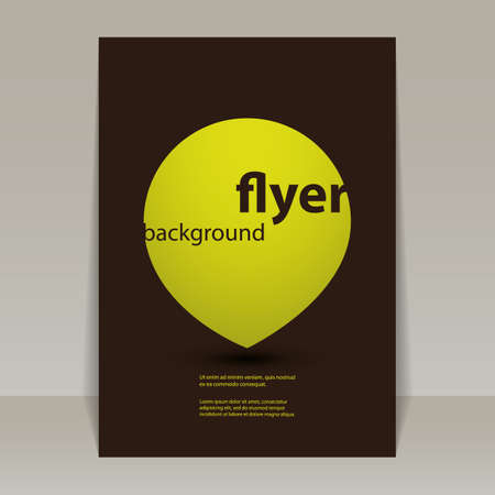 Flyer or Cover Design with Abstract Yellow Drop Vector