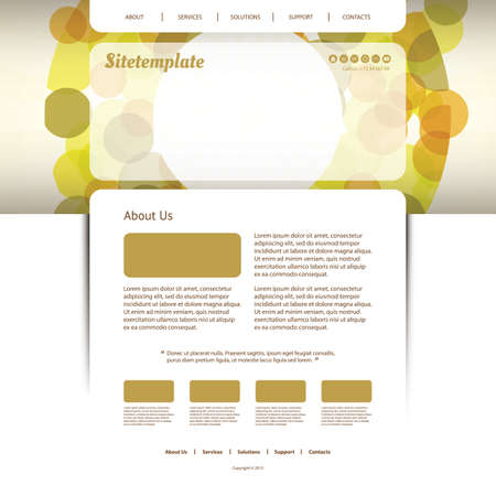 Website Template with Abstract Header Design - Bubbles Vector