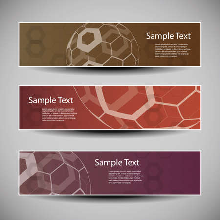 Banner or Header Designs with Abstract Globes Vector