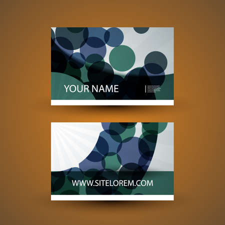 bubbly: Abstract Colorful Bubbly Business Card Template Design - Illustration in Freely Editable Vector Format Illustration