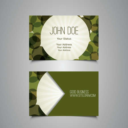 bubbly: Abstract Green Bubbly Business Card Template Design