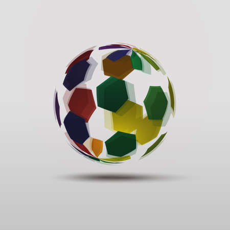 Abstract Colorful Globe Design Vector