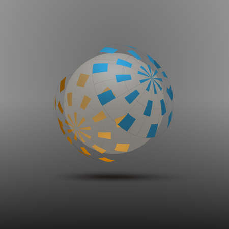 Abstract Colorful Globe Design Vector Vector
