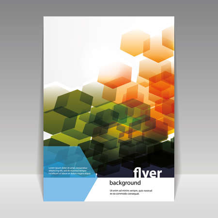 Flyer or Cover Design with Abstract Hexagonal Pattern,Flyer or Cover Design with Abstract Hexagonal Pattern Vector