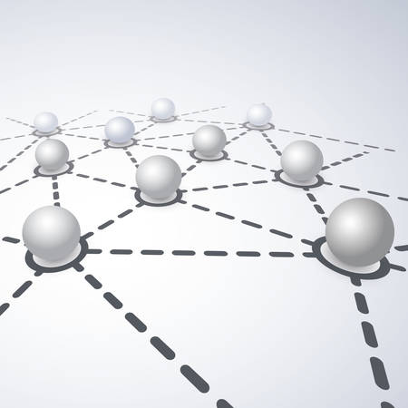 Abstract Networking Concept - Global Networks or Technology Vector