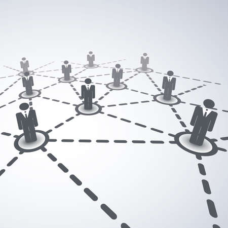 business networking: Network Concept - Business Connections