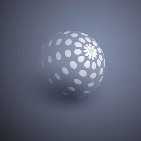 Globe Design with Dotted Surface Vektorové ilustrace