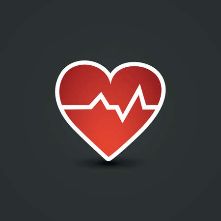 Red Heart Icon - Vector Illustration Vector