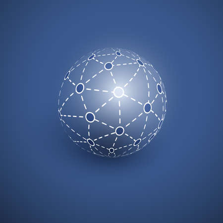 high way: Networks - Globe Design Illustration