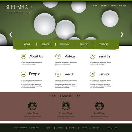 Website Design with Globes Pattern Vector