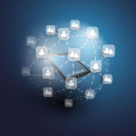 Global or Social Networks - for Your Business Ilustração