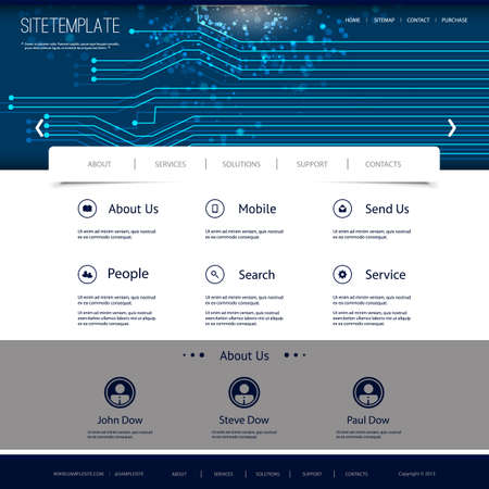 Website Design with Digital Connections Pattern Vector