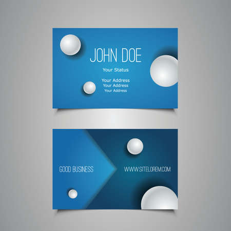 Business or Gift Card with Spheres Design Vector