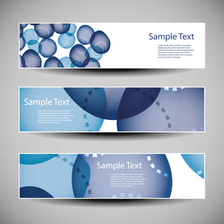 bubbly: Banner or Header Designs with Abstract Blue Bubbly Pattern Illustration