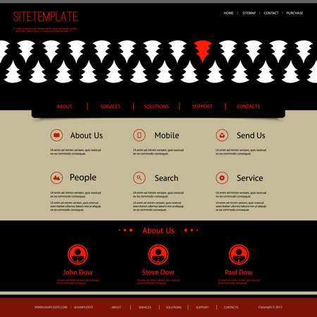 tree service pictures: Website Template with Abstract Header Design - Pine Pattern
