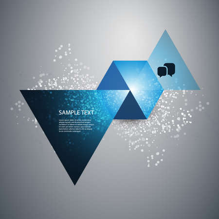 Abstract Triangles and Hexagon - Infographic or Speech Bubble Design Vector