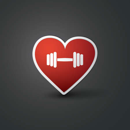 I Love Sports - Workout Sign Design with Barbell