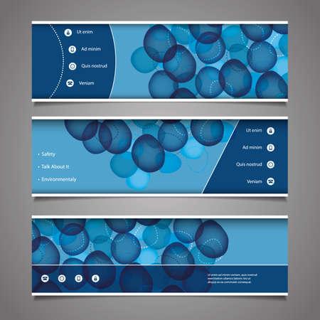 Web Design Elements - Header Designs with Bubbles Vector