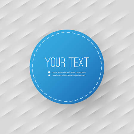 Abstract Background with Minimal Circular Text Box Design Vector