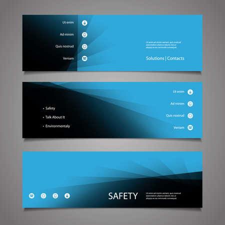 submenu: Web Design Elements - Abstract Blue Header Designs