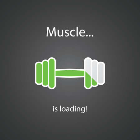Muscle is Loading - Weight Icon Design Vector