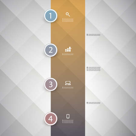 numbered: Infographic Concept - Flow Chart Design - Timeline