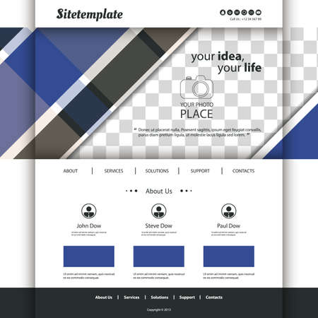sidebar: Website Template with Abstract Pattern and Place for Your Photo