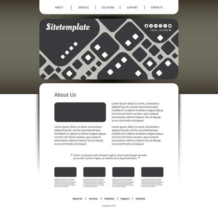 original circular abstract: Website Template with Abstract Header Design - Squares Pattern