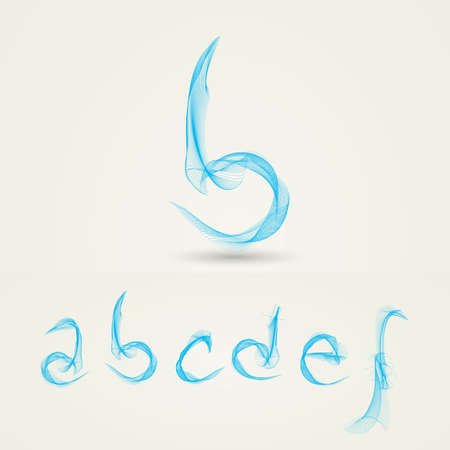 Wavy Alphabet Letters - Abstract Design Vector