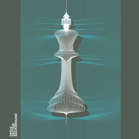 art piece: 3D Render of King Chess Piece - Vector Icon Illustration
