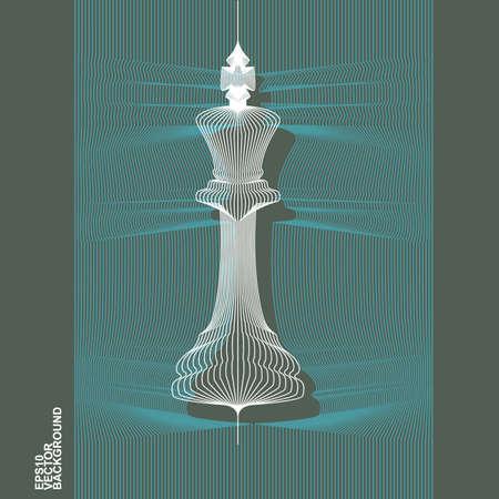 3D rendering di Re Chess Piece - Vector Icon illustrazione
