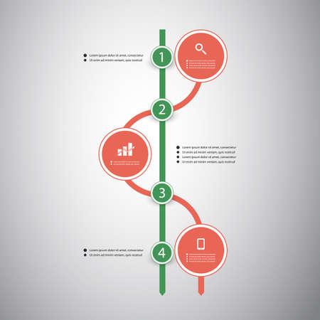 Infographic Concept - Flow Chart Design - Timeline Vector