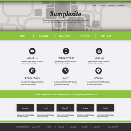 Website Template with Squares Pattern - Design for Your Business