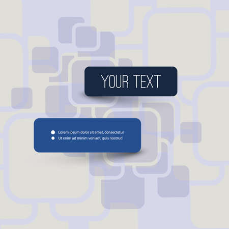 text box design: Abstract Squares Background with Minimal Text Box Design