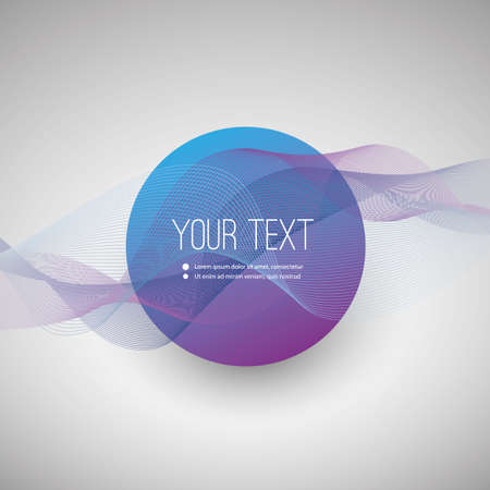 text box design: Abstract Wavy Lines Background with Minimal Round Text Box Design Illustration