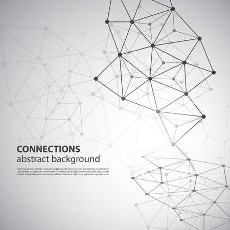 Connexions moléculaires, globale ou Réseau Concept design