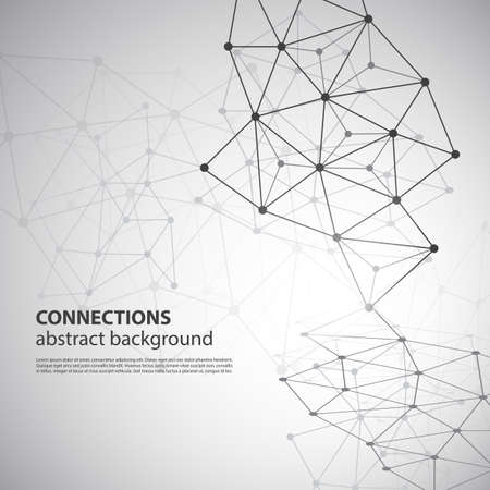 concept design: Molecular, Global or Business Network Connections Concept Design Illustration